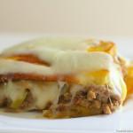 Lasagna de plátano maduro