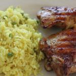 Pollo glaseado con Ponzu