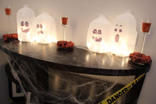 decoracion, fantasmas, galones, leche, milk, ghosts, gallon