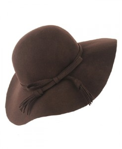 Fringe Bow Floppy Hat