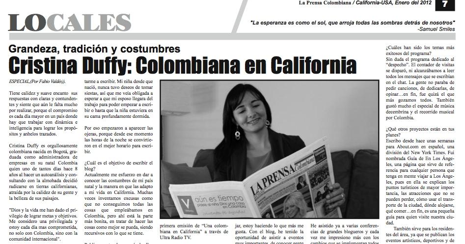 colombiana en California