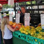 En el farmer's market