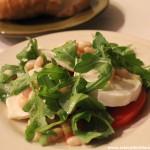 Ensalada de queso burrata y tomate