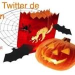 Invitación a nuestra fiesta de Halloween en Twitter