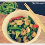 Vegetales sofritos con camarones (Receta + Sorteo)