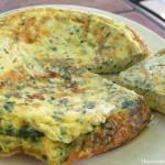 Tortilla de pollo y queso Brie