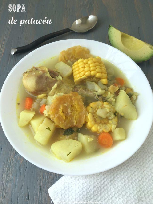 sopa de patacon