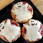 Mini-pizzas de fantasmas