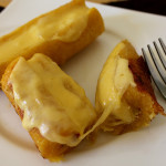 Plátanos maduros con queso