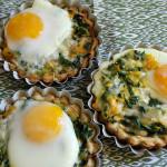 Recetas de Thanksgiving: Tartas de acelga y huevo