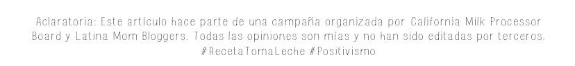 Aclaratoria Latina Mom Bloggers