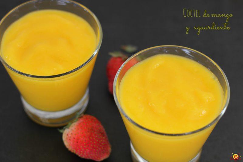 Coctel de mango y aguardiente_