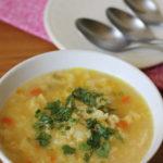 Sopa de arroz colombiana