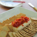 Dip de queso crema con pimentón