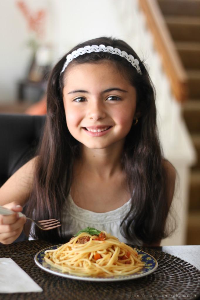 pasta con salsa bolognesa #Barillalovesmoms