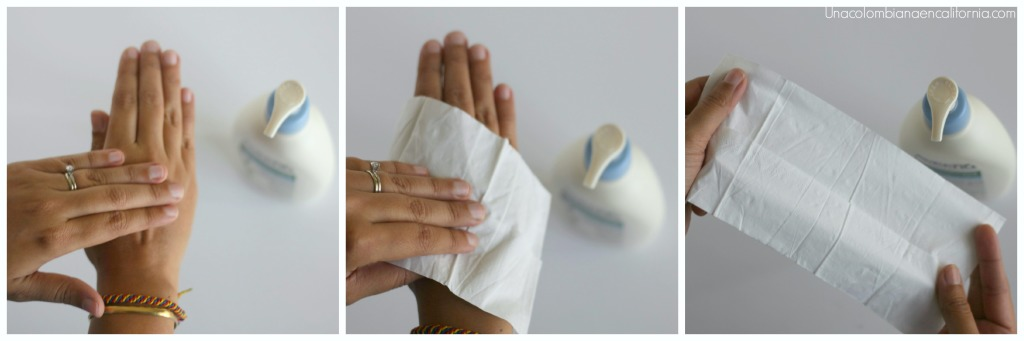 Test del pañuelo #HidratacionLiviana #Aveeno