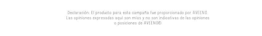 Aclaratoria Aveeno