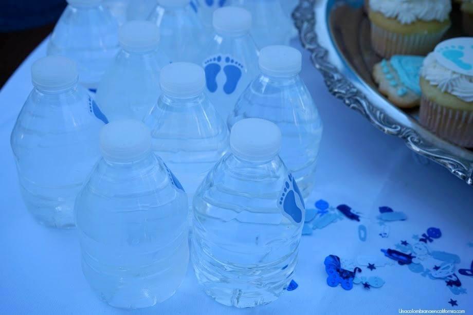 Bottle water botellas agua baby shower
