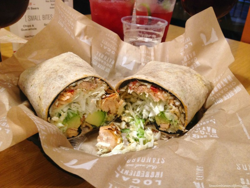 wild salmon lite burrito sharkys woodfired mexican grill