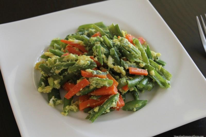 Habichuelas con zanahoria