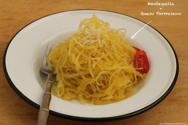 Espagueti Calabaza mantequilla UCEC
