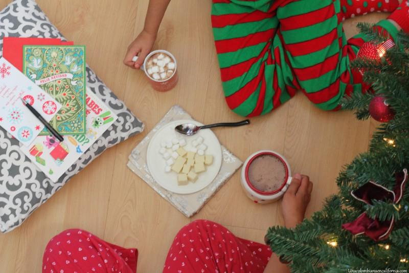 Navidad colombo estadounidense chocolate #HallmarkTradiciones