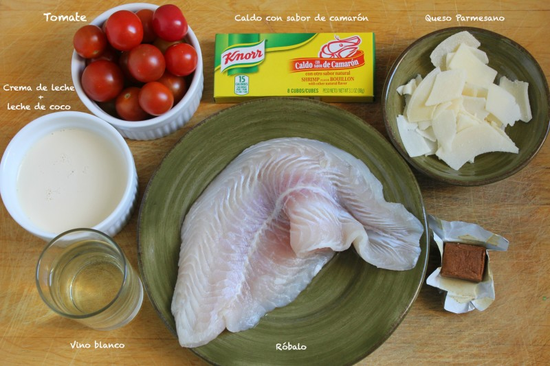 Robalo gratinado ingredientes