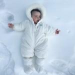 Con los niños en la nieve