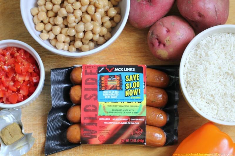arroz-al-horno-con-salchichas- #WildSideOfFlavor