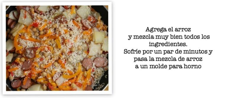 arroz al horno con salchichas receta 5 #WildSideOfFlavor