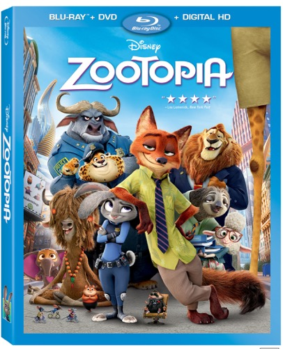 Zootopia en DVD Bluray Combo