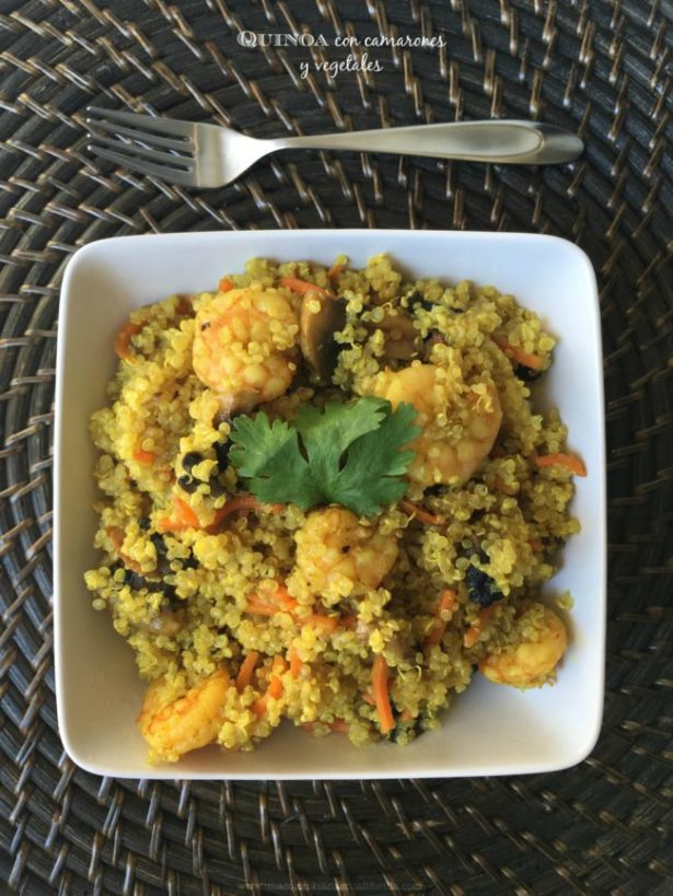 quinoa-con-camarones-y-vegetales