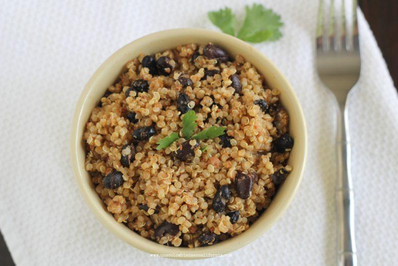 quinoa-con-frijoles receta