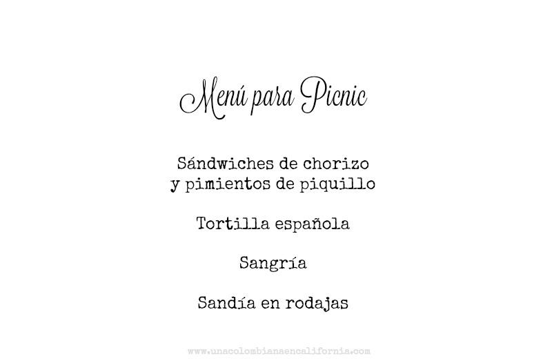 Ideas para picnic_menu