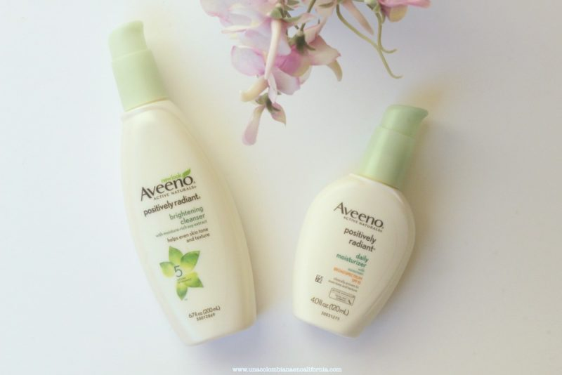 aveeno-positively-radiant-cleanser proteger la piel