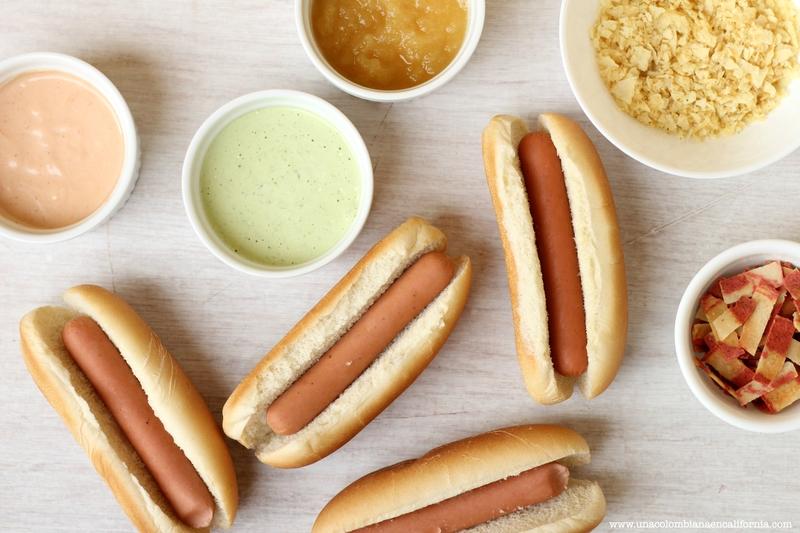 salsas para perros calientes
