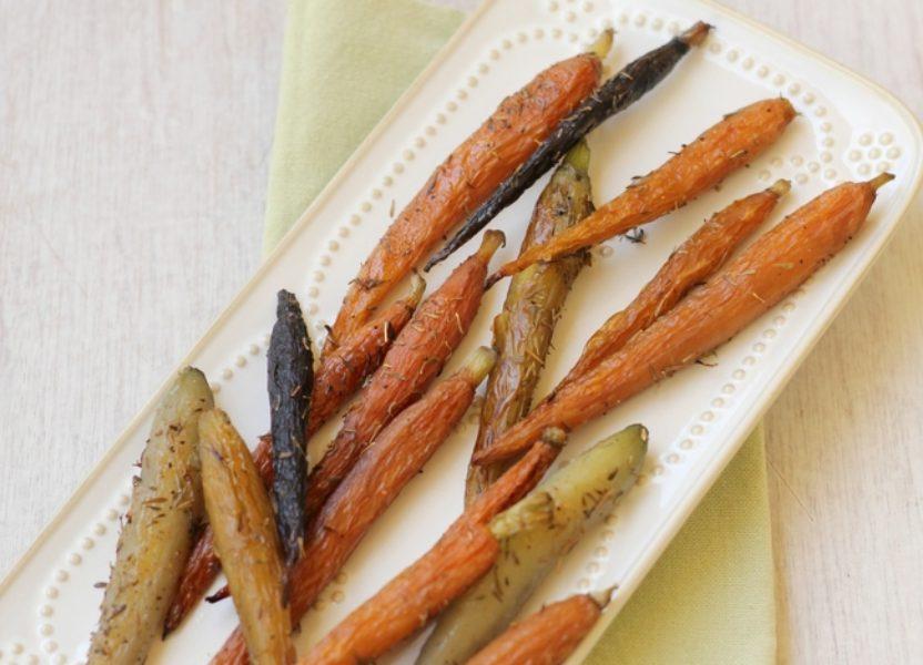 Zanahorias al horno con tomillo