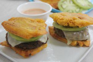 Patacón Burger (Green Plantain Burger)