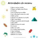 Lista de actividades de verano