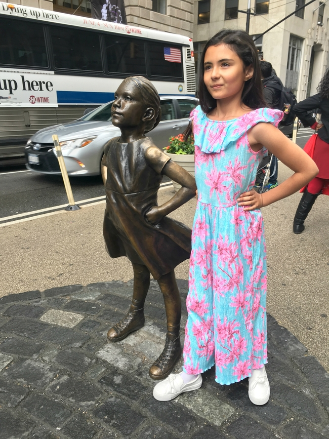 viaje a nueva york Trip to New York Fearless Girl