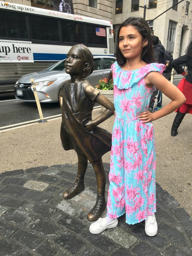 viaje a nueva york Trip to New York Fearless Girl