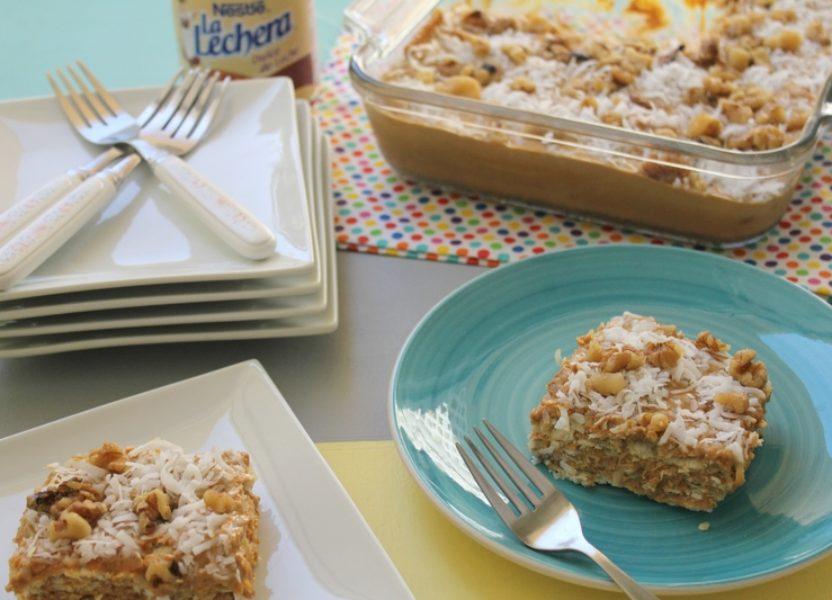 Torta fría de galletas y arequipe