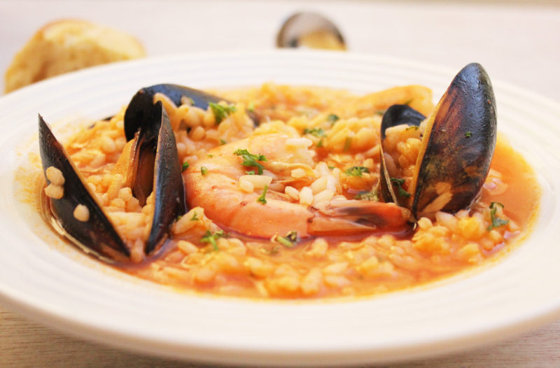 arroz caldoso con mariscos #40DaysOfFlavor