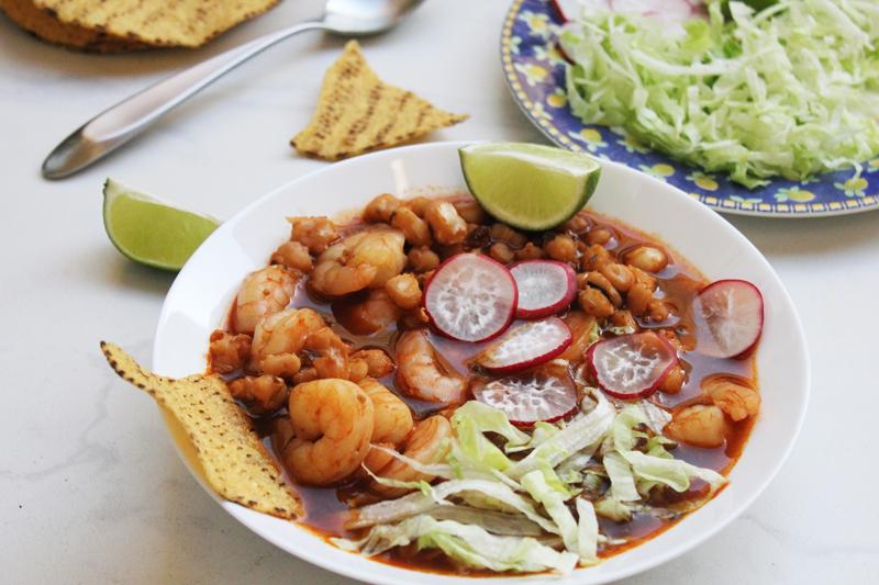 pozole de camarón una colombiana en california