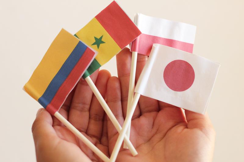 Banderas Colombia Senegal Polonia Japon