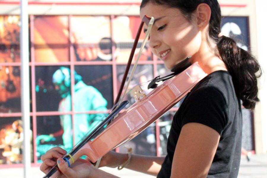 El progreso de la violinista