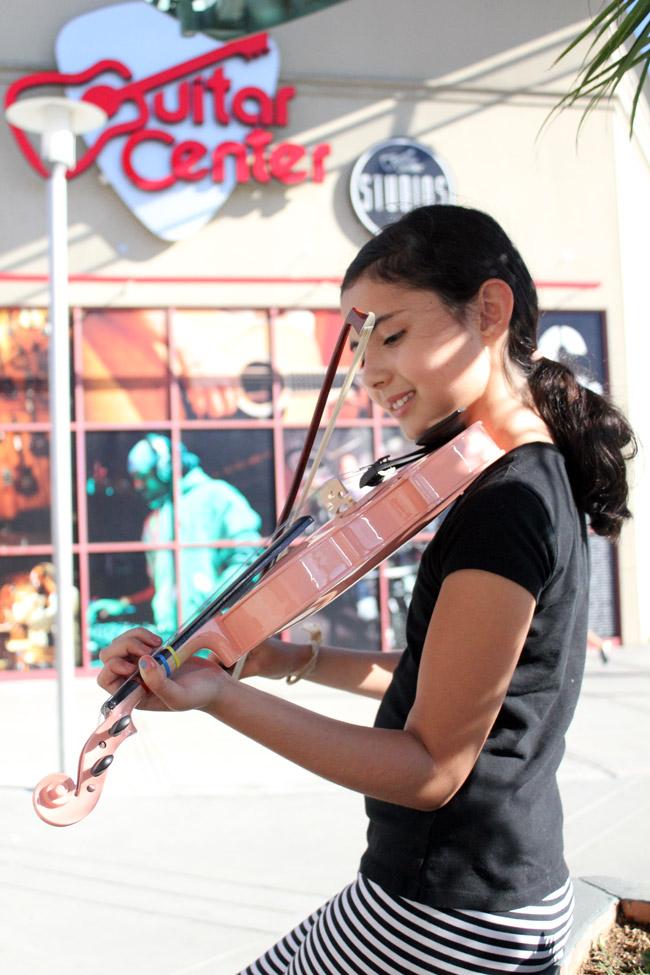 progreso de la violinista Guitar Center