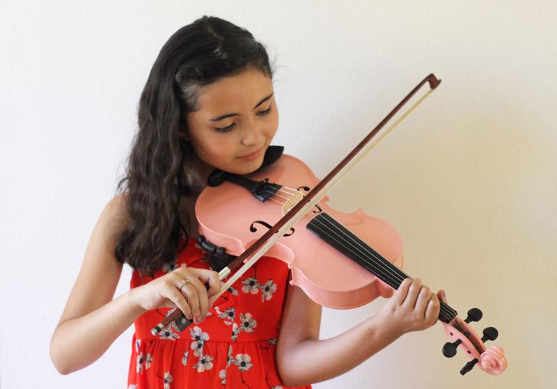 El progreso de la violinista Guitar Center