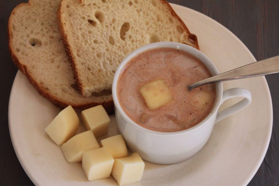 Hot Chocolate with Cheese (Colombian Style)