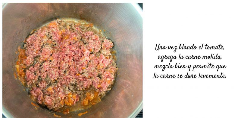 sopa de frijoles y carne molida receta